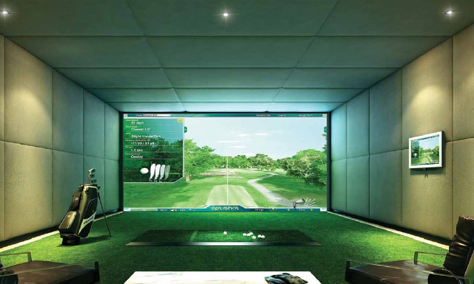 Ariva Hyde 11 Serviced Residences - Golf Simulator Perspective
