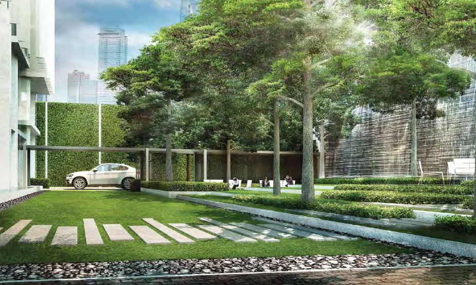 Ariva Hyde 11 Serviced Residences - Garden Perspective